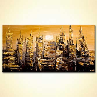 modern abstract art - The Gold City
