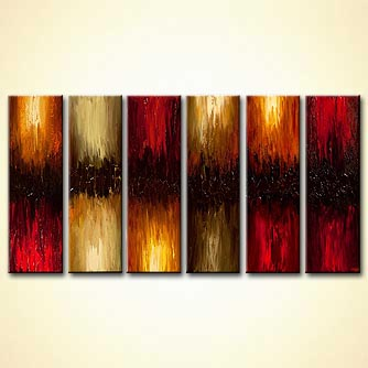 huge abstract painting textured