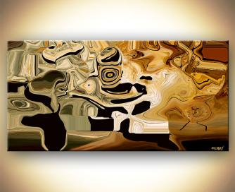 modern abstract digital print earth tones