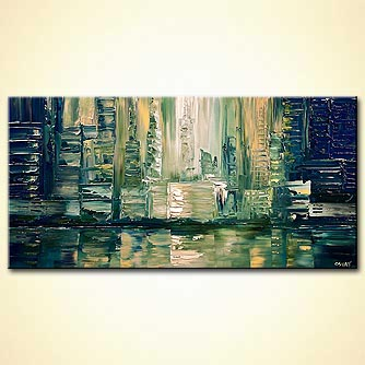 modern abstract art - City Lights