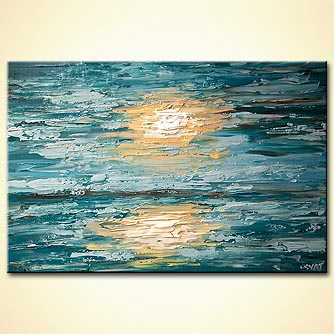 Seascape painting - The Sea
