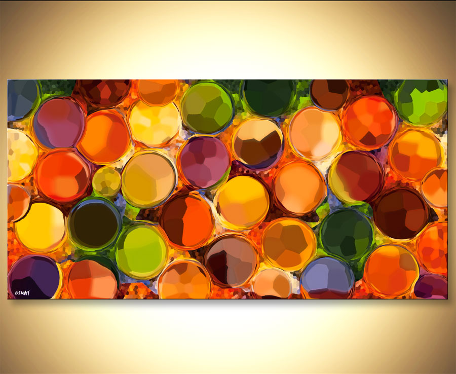 Colorful Modern Abstract Giclee Print Circles