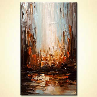 Cityscape painting - Coming Home