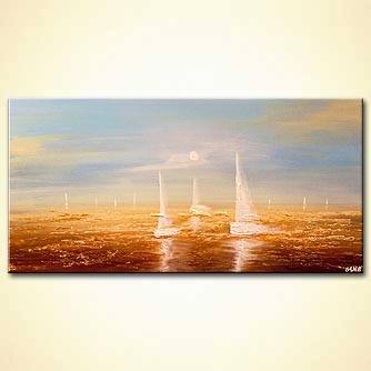 Seascape painting - September Sail