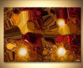 Digital Art Giclee Print Red brown yellow
