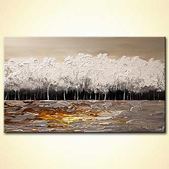 canvas print - White Forest