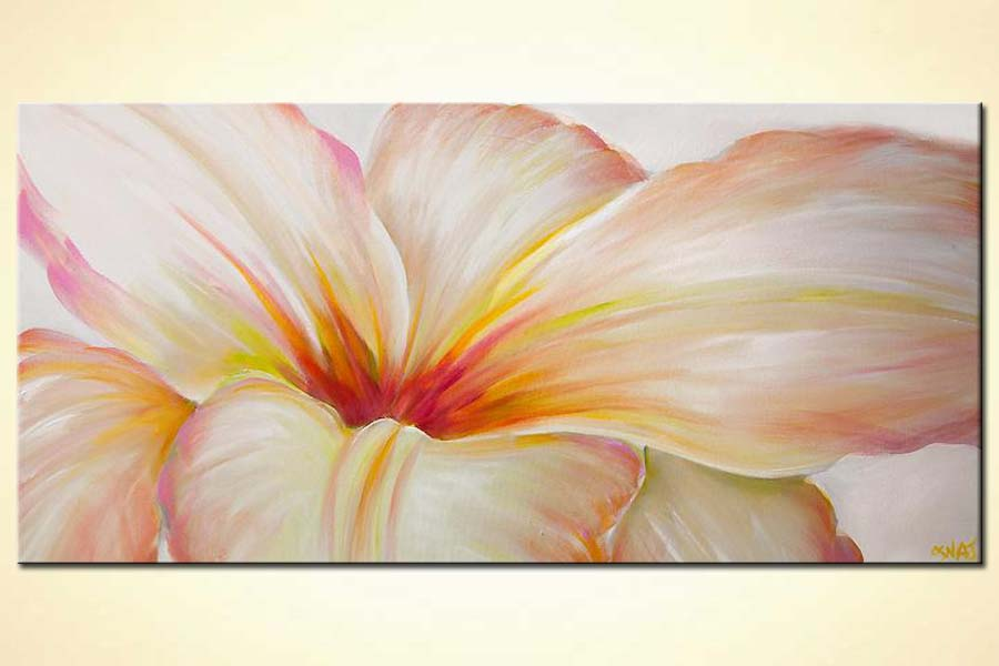 Buy white flower modern contemporary abstract floral painting 6265 white flower mightylinksfo