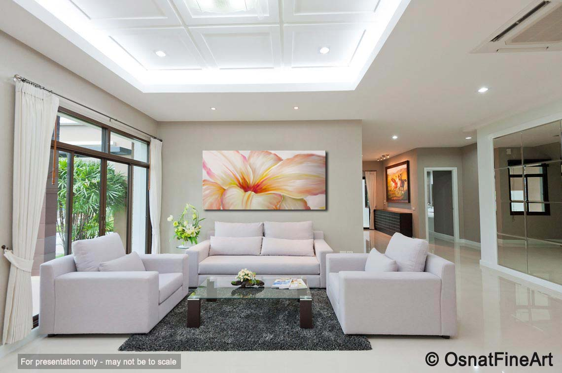 Buy white flower modern contemporary abstract floral painting 6265 white flower modern artwork thumbnail mightylinksfo