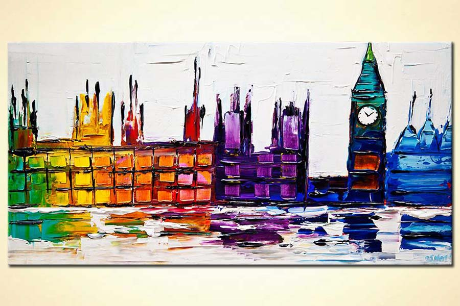 modern abstract art - Big Ben