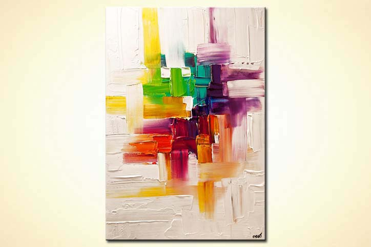 Painting Colorful Abstract Painting On White Background