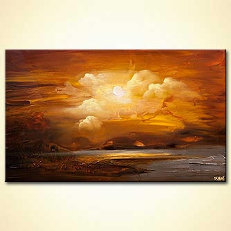 earthtone landscape modern abstract painting