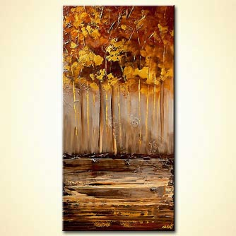 Forest painting - Golden
