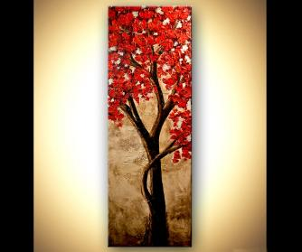 Landscape painting - Red
