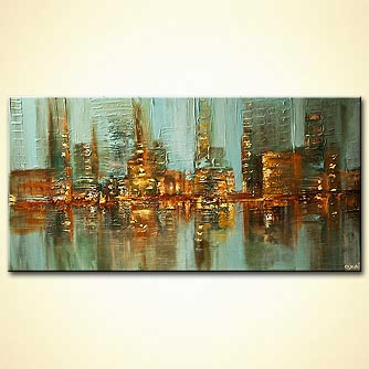 Cityscape painting - Street Lights