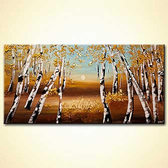 Landscape painting - Fall Road