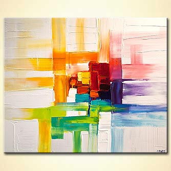 Abstract painting - Colorful Thoughts