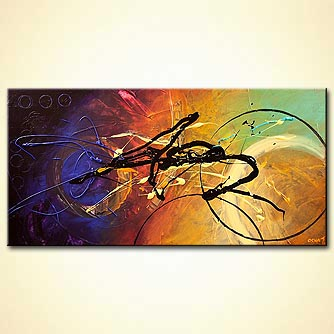 colorful modern contemporary textured abstract