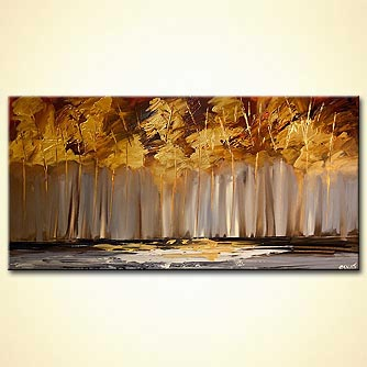 Forest painting - The Golden Forest