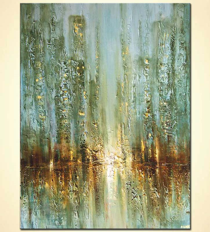 original contemporary abstract city painting textured painting palette knife