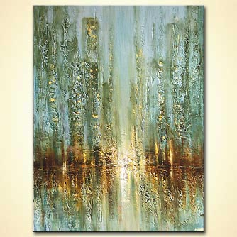 Cityscape painting - Walking in the Rain