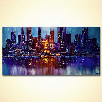 Cityscape painting - City Lights