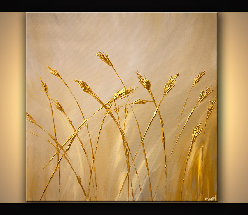 Painting For Sale Gold Textured Abstract Painting 6804