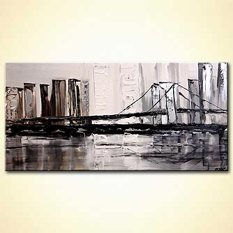 modern abstract art - The Silver Bridge