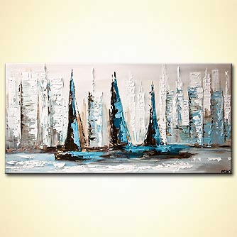 Seascape painting - City of Peace
