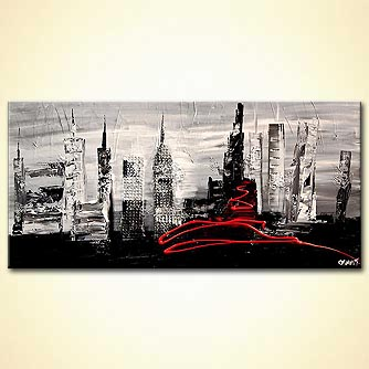 Cityscape painting - The City