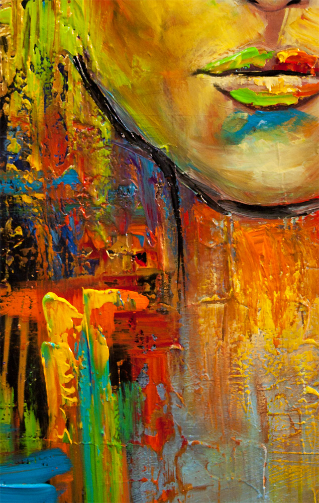Colorful Portrait Painting Modern Palette Knife
