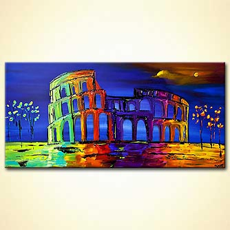 modern abstract art - Colosseum