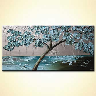 Forest painting - Flowering Tree