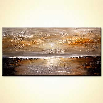 Landscape painting - Sunset