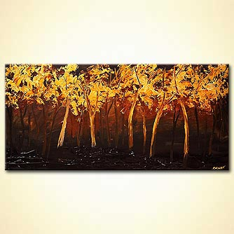 Forest painting - Golden Leaves