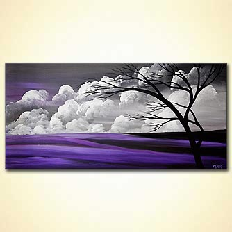 modern abstract art - Purple Rain