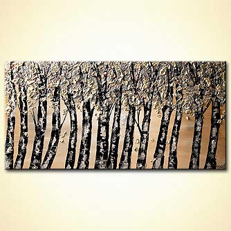 modern abstract art - Silver Forest