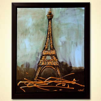 modern abstract art - Eiffel Tower