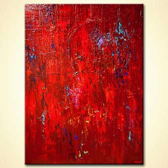 modern abstract art - Red
