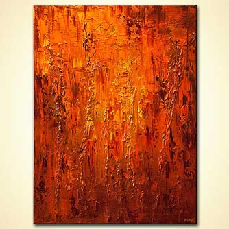 Abstract painting - Orange