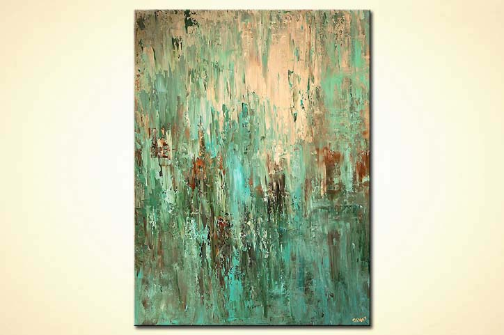 Painting For Sale Large Contemporary Turquoise Abstract