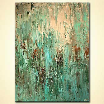 modern abstract art - Turquoise