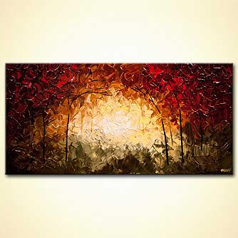 canvas print - Into the Forest