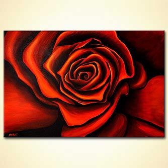 canvas print - Red Rose