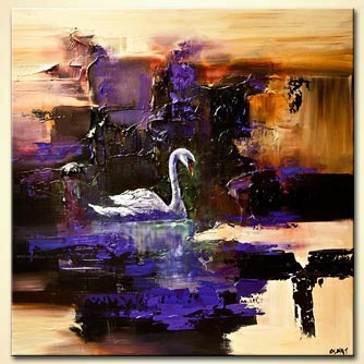 modern abstract art - Swan Song
