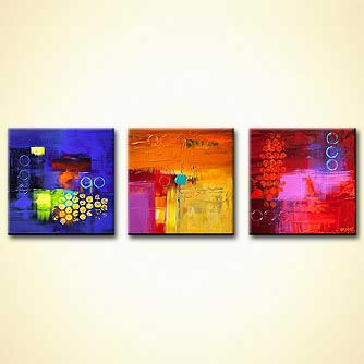 Abstract painting - Trio