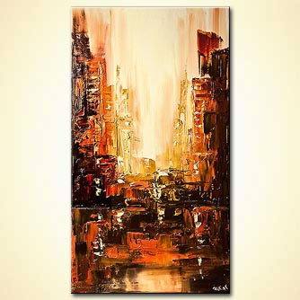 Cityscape painting - City Rush