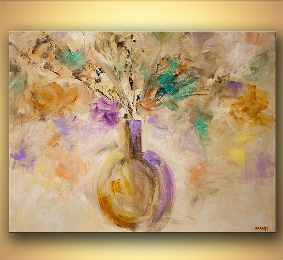 modern abstract art - Flowers in My Vase