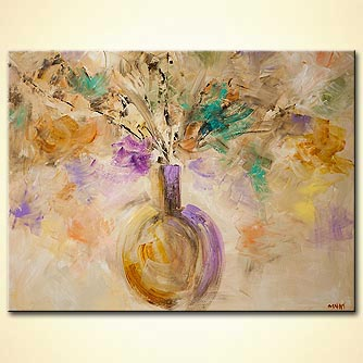Floral painting - Flowers in My Vase