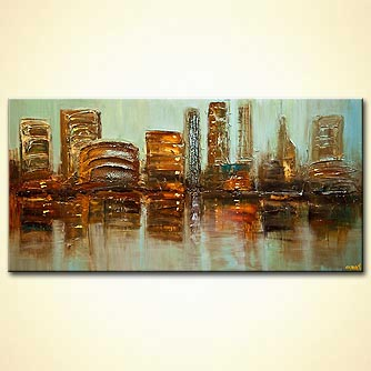 Cityscape painting - City Reflection