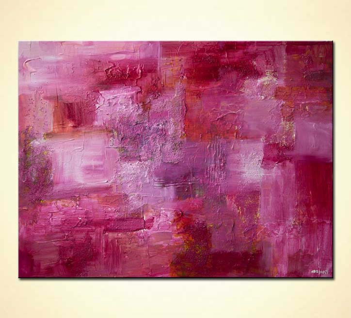 Buy Pink Abstract Painting Textured Modern Contemporary